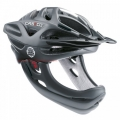 Casco Desmontable CAS-CO Viper MX Negro con mentonera
