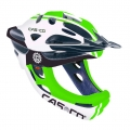 Casco Desmontable CAS-CO Viper MX verde con mentonera