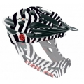 Casco Desmontable CAS-CO Viper MX Safari Cebra (sin mentonera)