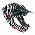 Casco Desmontable CAS-CO Viper MX Safari Cebra con mentonera