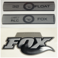 Kit Pegatinas Adhesivos Horquilla Fox Float 32 Fit RLC Titanium 10