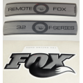 Kit Pegatinas Adhesivos Horquilla Fox 32 F-Series Remote Blanco 2010