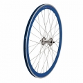 "Pair Wheels Fixie 700"" Fixed Blue + Free Spoke + Spoke + Lockring"