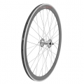 "Pair Wheels Fixie 700"" Fixed Silver + Free Spoke + Spoke + Lockring"