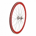 "Pair Wheels Fixie 700"" Fixed Red + Free Spoke + Spoke + Lockring"