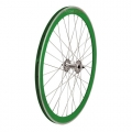 "Pair Wheels Fixie 700"" Fixed Green+ Free Spoke + Spoke + Lockring"