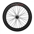 "Fixed Wheels Mowheel 700"" Profile 70mm Lightened BLACK"