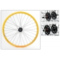 "Fixie Rear Wheel 700"" Yellow With profile DP18"