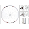 "Fixie Front Wheel 700"" White Hub White With profile Rim DP18"