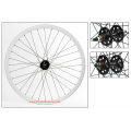 "Fixie Front Wheel 700"" DP18 White Profile Rim"