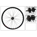 "Fixie Front Wheel 700"" Black Matt With profile DP18"