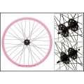 "Fixie Front Wheel 700"" Pink With profile DP18"
