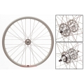 "Fixie Rear Wheel 700"" DP18 Gray Silver Profile Rim"