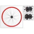 "Fixie Rear Wheel 700"" Red With profile DP18"