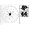 "Fixie Rear Wheel 700"" DP18 White Profile Rim with brake surface"