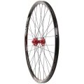 "FRONT WHEEL HALO BLACK VAPOUR 27,5"" (650b) / hub Red"