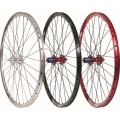 "Pair Wheels Halo Vapour 27,5"" (650b) BLACK with red hub"