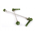 Pair Wheel Quick Release KCNC Green