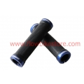 Black Msc Grips Lock-on With Blue lock clamps
