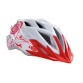 Casco Met Crackerjack Blanco Rosa Rojo 52-57