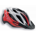 Met Crossover Helmet Red - White 2015