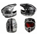 Casco Integral Msc TWO FACED Descenso Negro Plata