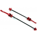 MSC Ultralight aluminium Wheel Skewers (Colours)