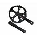 Cranks Mighty Fixie Ride 165mm Squares + ChainRing 46T Black