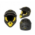 Casco Integral Mighty Fall Out Negro Amarillo