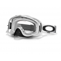 Máscara MX Oakley Crowbar (Blanco Mate Speed)