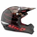 Casco Integral One Industries Kombat Flames - Negro / Rojo