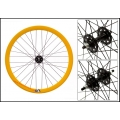 "Fixie Front Wheel 700"" Origin 8 With profile Hight Yellow/Black (32 spokes)"