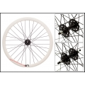 "Fixie Front Wheel 700"" Origin 8 With profile White / Black (32 spokes)"