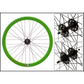 "Fixie Front Wheel 700"" Origin 8 With profile Green/Black"