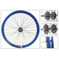 "Fixie Front Wheel 700"" Origin 8 Blue Anonized With High Profile (32 Spokes)"