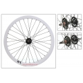 "Fixie Front Wheel 700"" Origin 8 White With High Profile (36 spokes) CNC"