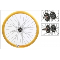 "Fixie Front Wheel 700"" Origin 8 Gold With High Profile (32 Spokes)"