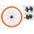 "Fixie Front Wheel 700"" Origin 8 Orange lighter-sealed hub (32 spokes)"