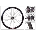 "Fixie Front Wheel 700"" Origin 8 Black With High Profile (32 spokes)"