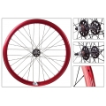 "Fixie Front Wheel 700"" Origin 8 Red Anonized lighter-sealed hub (32 spokes)"