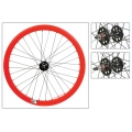 "Fixie Front Wheel 700"" Origin 8 Red lighter-sealed hub (32 spokes)"