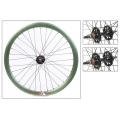 "Fixie Front Wheel 700"" Origin 8 Green Anodized lighter-sealed hub (32 spokes)"