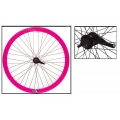 "Fixie Rear Wheel 700"" Origin 8 With Coaster Brake Hub Pink"