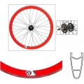 "Front Wheel Origin 8 TRACK ATTAK 700"" 32 Spokes Red CNC (ECO)*"