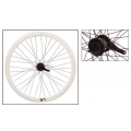 "Fixie Rear Wheel 700"" Origin 8 With Coaster Brake Hub KT2 White"
