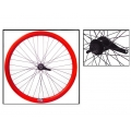 "Fixie Rear Wheel 700"" Origin 8 With Coaster Brake Hub Red"