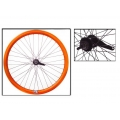 "Fixie Rear Wheel 700"" Origin 8 With Coaster Brake Hub Orange"