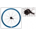 "Fixie Rear Wheel 700"" Origin 8 With Coaster Brake Hub Blue Anodized"