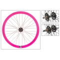 "Fixie Front Wheel 700"" Origin 8 Pink With Profile (32 spokes)"
