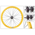 "Fixie Rear Wheel 700"" High Profile Yellow Origin 8 (32 spokes)"